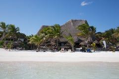 Karibischer Strand Mexiko Tulum Stockfotos