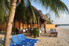 Karibischer Strandurlaubsort Lizenzfreies Stockbild