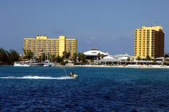 Karibischer Strandurlaubsort Stockfoto