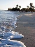 Karibisches Meer und Wellen im Strand Stockbild