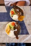 Karibisches Meerestier-Mittagessen lizenzfreie stockfotografie
