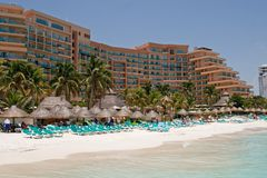 Karibisches Rücksortierung-Hotel Stockbilder