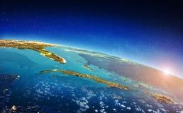 Karibisches Seesonnenaufgang lizenzfreies stockfoto