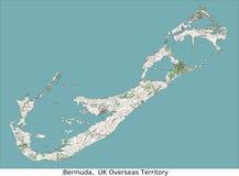 Karibisk Amerika hög res för Bermuda UK territorium flyg- sikt Royaltyfri Bild