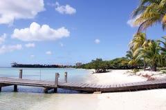 karibisk aruba strand Arkivfoton
