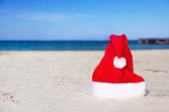 karibisk claus hatt santa Royaltyfri Fotografi