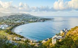 Karibisk fjärd från över Arkivfoton