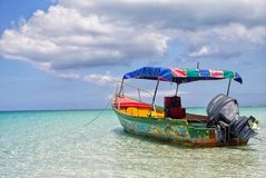 Karibisk flykt arkivbild