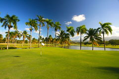 karibisk golfsemesterort Arkivfoton