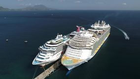 Karibisk kryssning Puerto Rico Island Carnival stock video