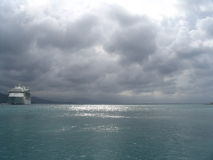 karibisk kryssningmorgon Royaltyfri Fotografi