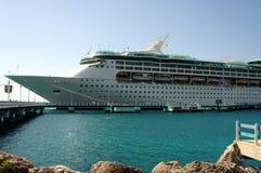 karibisk kryssningship Fotografering för Bildbyråer