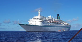 karibisk kryssningship Royaltyfri Bild