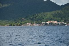 Karibisk kyrka på stranden royaltyfri fotografi