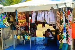 Karibisk marknad på St Croix Arkivbilder