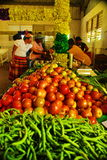 Karibisk marknad på St Croix, USA Jungfruöarna arkivfoto