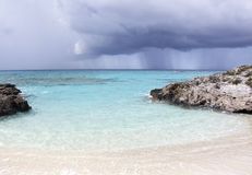 Karibisk regnig dag Royaltyfria Bilder