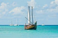 karibisk segling Arkivfoton