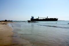 karibisk shiptransport för strand Fotografering för Bildbyråer