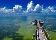 Karibisk skeppsdocka royaltyfria bilder