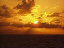 karibisk solnedgång royaltyfri bild