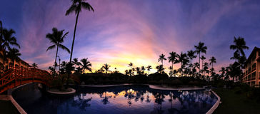 karibisk solnedgång Arkivfoto