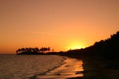 Karibisk solnedgångAntigua Royaltyfria Bilder