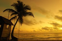 karibisk solnedgång Royaltyfri Fotografi