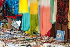 Karibisk souvenirmarknad Arkivfoton