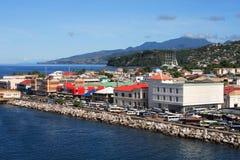 karibisk stad Royaltyfri Bild