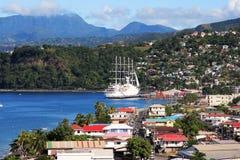 karibisk stad Arkivfoton