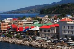 karibisk stad Arkivbild