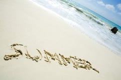 karibisk strand arkivbild