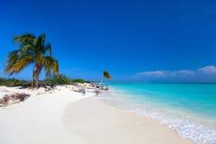 Karibisk strand och hav Royaltyfria Bilder