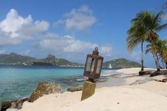 Karibisk strand, Saint Vincent och Grenadinerna Arkivbild