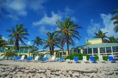 Karibisk strandsemesterort, St. Croix, USVI Arkivbild
