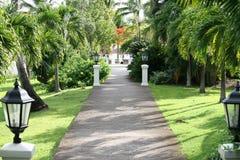 Karibisk walkway Fotografering för Bildbyråer