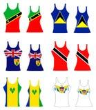Karibiska ärmlös tröja Arkivfoto