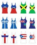 karibiska ärmlös tröja Arkivbilder