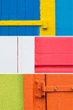 Karibiska färgväggbakgrunder 2 Royaltyfri Foto