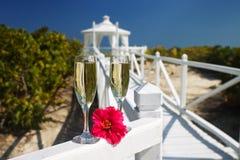 karibiskt bröllop royaltyfri fotografi