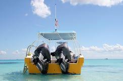 karibiskt fiskehav för fartyg Arkivbilder