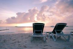 karibiskt gryninghav Arkivbilder