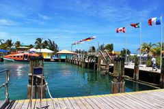 Karibiskt hav av underbar deppighet Arkivfoton