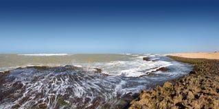 Karibiskt hav på den nordliga punkten av Sydamerika Royaltyfri Fotografi