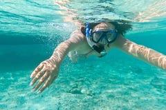 karibiskt hav som snorkeling Royaltyfri Fotografi