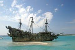 karibiskt piratkopiera shipen Arkivfoto