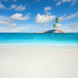 Karibiskt sandhav Arkivfoto
