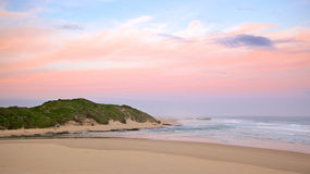 Kariega River Mouth. Twilight at the mouth of the Kariega River, Kenton, Eastern Cape, South Africa Royalty Free Stock Photo