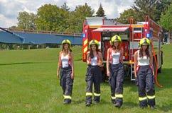 Kariera jako pożarnicza kobieta fotografia royalty free